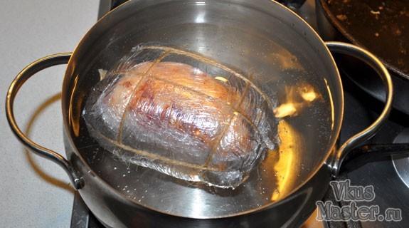 Как приготовить ветчину из свиной брюшины – <b>пошаговый</b> ...