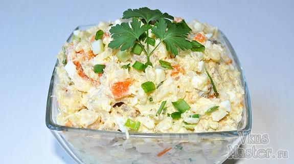 салаты с копченой треской и рисом рецепт