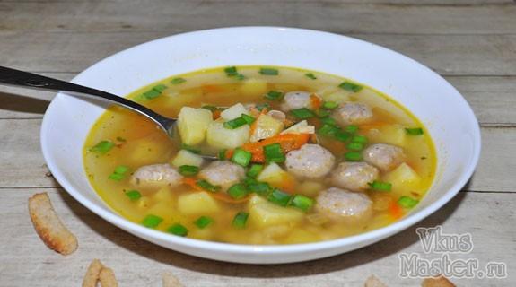 суп с фрикадельками и фасолью пошаговый рецепт с фото