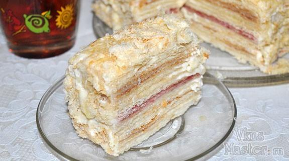 Торт наполеон из покупного слоеного теста рецепт