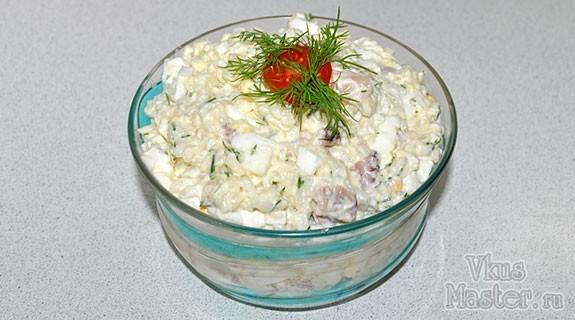 Салат с яйцом и морским коктейлем рецепт с очень вкусный