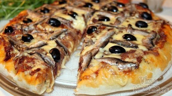 Пицца рецепт анчоусы