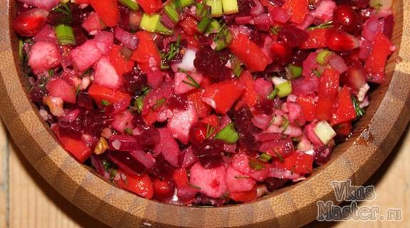 Салат из свеклы с гранатом фото рецепт