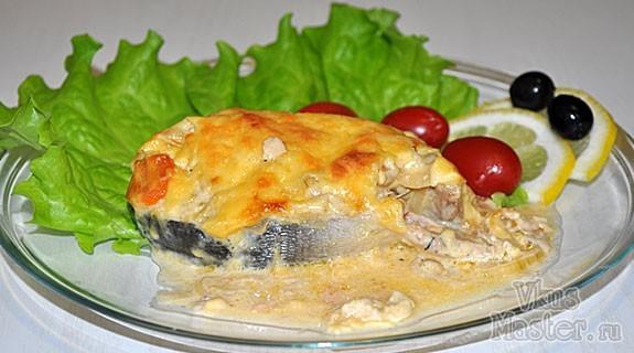 Горбуша с сыром и овощами запеченная в духовке рецепт